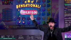 Roshtein Wins 500000€  Fruit political party – Online casino bonus large Win inwards Slots