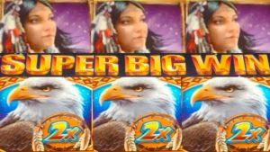 **SUPER large WIN!!!** Great Eagle Returns (WMS) Slot Machine Bonus Wins