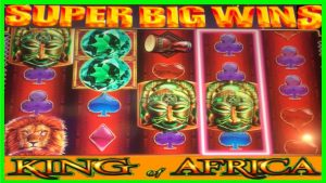 **SUPER large WINS!!!** RETRIGGERS! virile somebody monarch of Africa WMS Slot Machine Bonuses