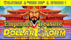 Slotman's Biggest Win on Emperor's Treasure @San Manuel casino bonus PT.1 #slots #casino bonus