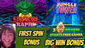 foremost spin bonus on 5 Dragons Rapid & large Win Jungle Tower!