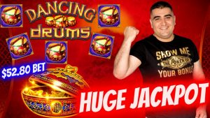 large Handpay Jackpot On High boundary Dancing Drums Slot -$52.80 A Spin | Slot Machine large JACKPOT 2021