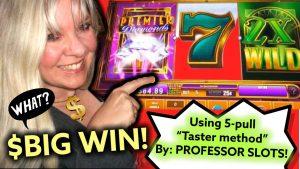 "💥$ large WIN! [Using PROFESSOR SLOTS'] 5-Spin ""TASTER METHOD"" Windcreek casino bonus Wetumpka AL"