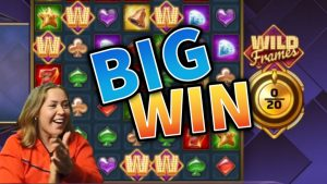 large WIN! Wild Frames Crazy Win – casino bonus Games from MrGambleSlots Live flow