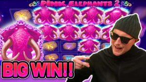 large WIN!! pinkish ELEPHANT 2 large WIN –  €5 BET on casino bonus game from CasinoDaddy