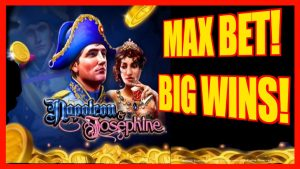 **large WINS!** MAX BET! Napoleon & Josephine LIVE PLAY+BONUSES WMS Slot Machine
