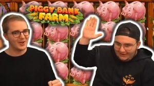 large Win On Piggy Bank Farm (Play'n GO) – casino bonus Slots large Wins