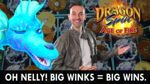 large Winks = large WINS on the Newest Dragon Spin: Age of 🔥 #advertizing