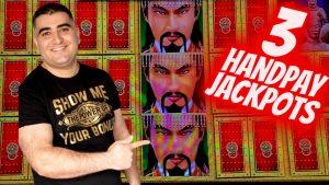 3 HANDPAY JACKPOTS On High boundary Slots   Las Vegas casino bonus JACKPOTS