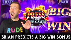 🔮 Brian legit PREDICTS a large Win BONUS! #advertizement