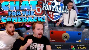 CHAT DECIDES my €4000 bet on football game Studio (large WIN!)