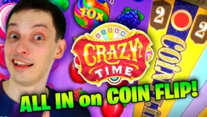 CRAZY TIME, ALL inwards on money FLIP 7x MULTIPLIER! Slots large Wins vs LIVE casino bonus Games