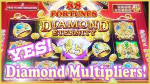 Got the Diamond Multipliers! large Wins on 88 Fortunes Diamond Eternity💎Bonus After Bonus!