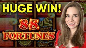 HUGE BONUS! large WIN! 88 Fortunes Slot Machine!