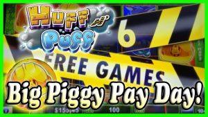 Huff N Puff & Piggy Bankin' 🐷Piggies Finally Pay Some large Wins! Reno & Las Vegas!