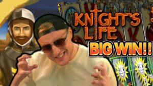 KNIGHTS LIFE GOES CRAZY RETRIGGER!  large WIN ON casino bonus SLOT FROM CASINODADDY