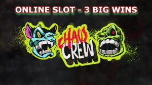 ONLINE SLOT – CHAOS CREW 3 large WINS!!! BEST STREAMER WINS. ONLINE casino bonus BONUSES.