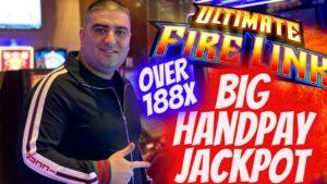 Over 188X large HANDPAY JACKPOT On Ultimate flame Link Slot ! Las Vegas casino bonus JACKPOT