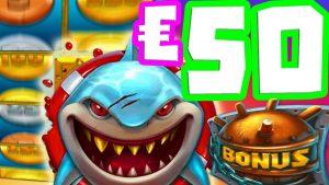 Razor Shark 🦈 50 € הימרו על בונוס האנט מגה גדול זוכה 🤑 מדי מטבעות ענקיים ללא עצירה סיבובים לא רופפים‼ ️