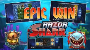 Slot machine Razor Shark epic win. Online casino bonus large win