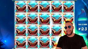 UNREAL MEGA WIN! Streamer Huge Win on Razor Shark slot! BIGGEST WINS OF THE calendar week! #34