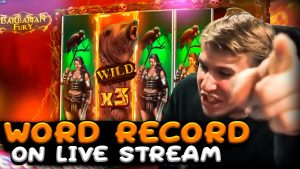 WORLD tape WIN! Streamer Crazy Win on Barbarian Fury Slot! BIGGEST WINS OF THE calendar week! #48