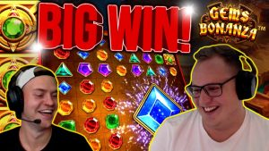 large WIN ON GEMS BONANZA!