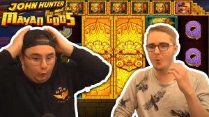 large WIN ON JOHN HUNTER together with THE MAYAN GODS – casino bonus large WINS