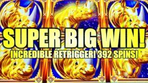 ★SUPER large WIN!★ 392 SPINS! INCREDIBLE RETRIGGER! rhinoceros accuse WONDER 4 BOOST Slot Machine