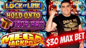 ✦MEGA HANDPAY JACKPOT✦ Na Lock It Link vzemite na svoj igralni avtomat - 30 USD MAX BET   SE-devet   EP-28