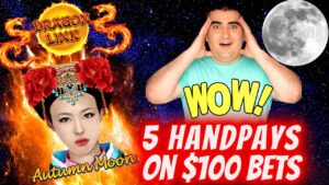 $100 Bets & 5 HANDPAY JACKPOTS On Dragon Link Slot ! Huge High boundary Slot Play inward Las Vegas