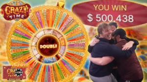 $500,000 MAX CRAZY TIME WHEEL WIN WITH MY BROTHERS! (WORLD tape)