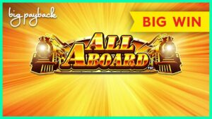 ALL FEATURES! All Aboard Piggy Pennies Slot – large WIN BONUS!