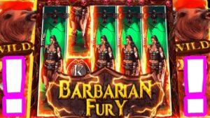 Barbarian Fury 😵🔥 Slot Mega large Win on the Bonus Buys Omg Insane Multipliers Max Bet‼️