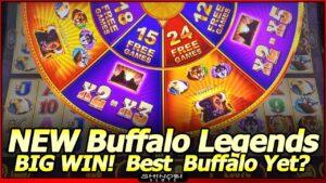Buffalo Legends Edition Slot Machine – large WIN unloose Spins Bonus!  Is this the Best Buffalo Slot Yet?