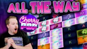 CherryPop Bonus ALL THE WAY — large Win!