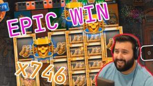 Extra WIN! Streamer win x746 inwards casino bonus Slots! BIGGEST WINS OF THE calendar week! #4