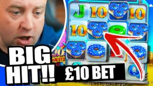 *GEEEZ* large WIN on DONUTS HIGH STAKES SLOT