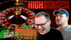 HIGH STAKES Roulette – HUGE WIN!