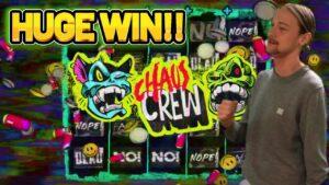 HUGE WIN!! CHAOS CREW large WIN – ONLINE casino bonus SLOT FROM CASINODADDY LIVE current