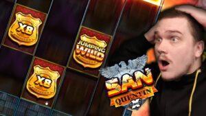 HUGE WIN ON SAN QUENTIN XWAYS (Nolimit urban center – Super Mega large Win)