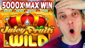 JUICY FRUITS MAX WIN 5000x! BONUS purchase 5 SCATTERS together with HUGE WILD!