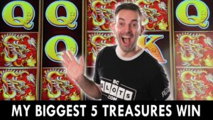 🐉 My BIGGEST WIN EVER on 5 Treasures Slot Machine