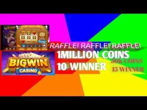 RAFFLE large WIN casino bonus 1OM-10WIN 50K-15WIN