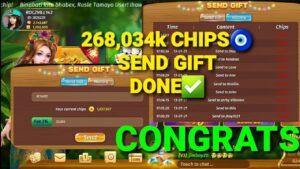 SEND GIFT 268,034k CHIPS🧿DONE✅💰 large WIN guild🧿💰