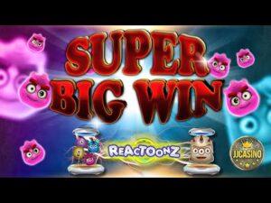 초대형 WIN BEI REACTOONZ (PLAY'N GO) – 10 € EINSATZ!