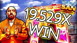 Streamer Insane Win 19.529X on San Quentin Slot – Streamers Biggest Wins #4