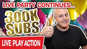 🔴 The LIVE VEGAS political party Continues: 300K Subscribers! 🎈 HUGE Slot Bets to Celebrate
