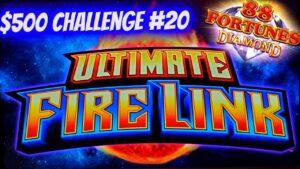 Ultimate flaming Link & 88 Fortunes Diamond Slots | $500 Challenge To Win At casino bonus