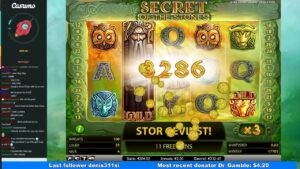 casino bonus bonus large win slot from Netent volume Secret Of The Stones
